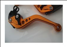 KTM 640 2002-2006, CNC clutch lever short orange alloy & black adjusters C31